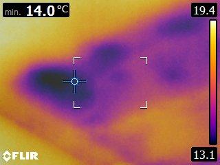 Ilmavuoto lämpökamerakuva